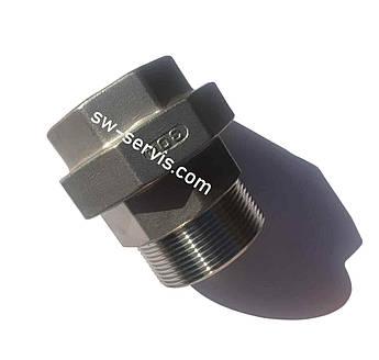 Згін-американка з нержавіючої сталі 1 1/2 дюйма внутрішня зовнішня