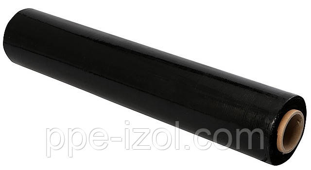 Пленка черная вторичка 200мкн (3м х 100м), пленка строительная