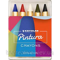 Грим-олівці Kryolan PINTURA CRAYONS 5 COLORS, 5 відтінків