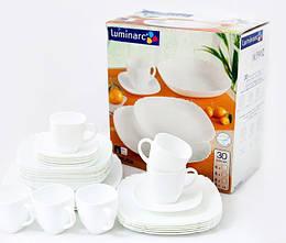 Столовый сервиз Luminarc Lotusia White 30 предметов LUM-H3902psg, КОД: 171242