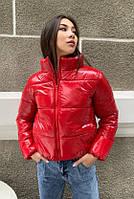 Куртка женская демисезонная дутая КML 0015 S - L (42-48) Красный