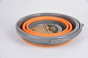 Відро складне Tramp TRC-092 5 л силіконове Orange, фото 2