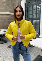 Куртка женская демисезонная дутая КML 0015 S - L (42-48) Желтый