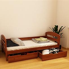 Ліжко дитяче дерев'яне Вінні (масив бука)