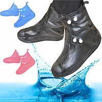 Чехлы на обувь водонепроницаемые 25 cм Waterfproof Shoe размер 34-35 (R25620)
