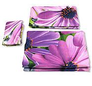 """Двоспальний комплект (Ранфорс)   Постільна білизна від виробника """"Королева Ночі""""   Квіти на бузковому, фото 3"""