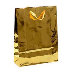 Сумочка подарочная Gift Bag Steel Асьер 30х23х8 см Золотистый 16436, КОД: 1347571
