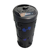🔝 Большая блютуз колонка с подсветкой, BT Speaker ZQS-4209 черная, портативная музыкальная акустика   🎁%🚚