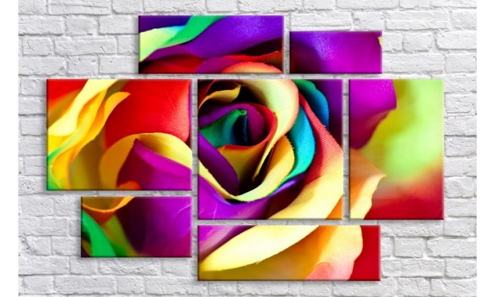 "Модульная картина на холсте Holst Art ""Разноцветная роза"" (HAV-023)"