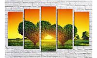"""Модульная картина на холсте Holst Art """"Дерево любви 2"""" (HAB-259)"""