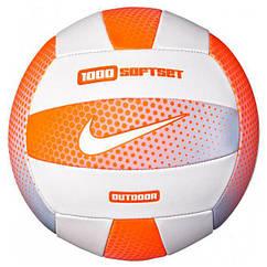 Мяч волейбольный Nike 1000 Softset Outdoor Volleyball 18P Cone White Cone White Size 5 Реплика 97, КОД: 1650150