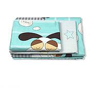 """Двуспальный комплект (Бязь)   Постельное белье от производителя """"Королева Ночи""""   Собаки и звезды на бирюзовом, фото 2"""