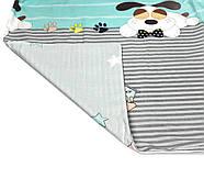"""Двуспальный комплект (Бязь)   Постельное белье от производителя """"Королева Ночи""""   Собаки и звезды на бирюзовом, фото 4"""