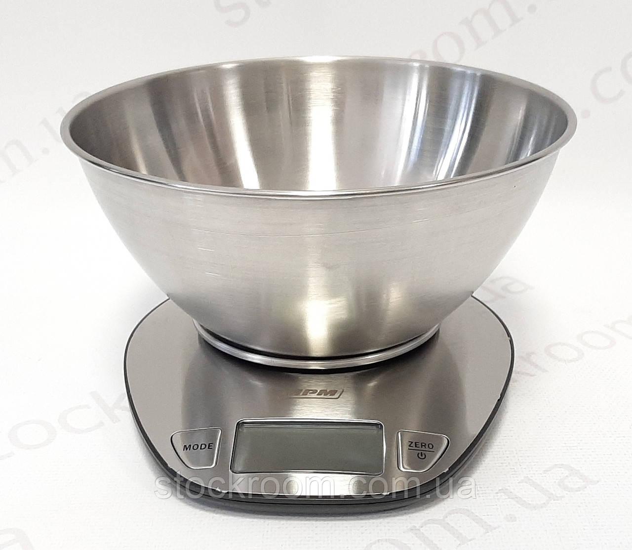 Весы кухонные с металлической чашей MPM