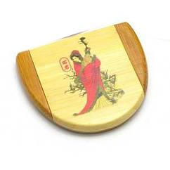 Зеркальце косметическое бамбуковое 45391, КОД: 1364825