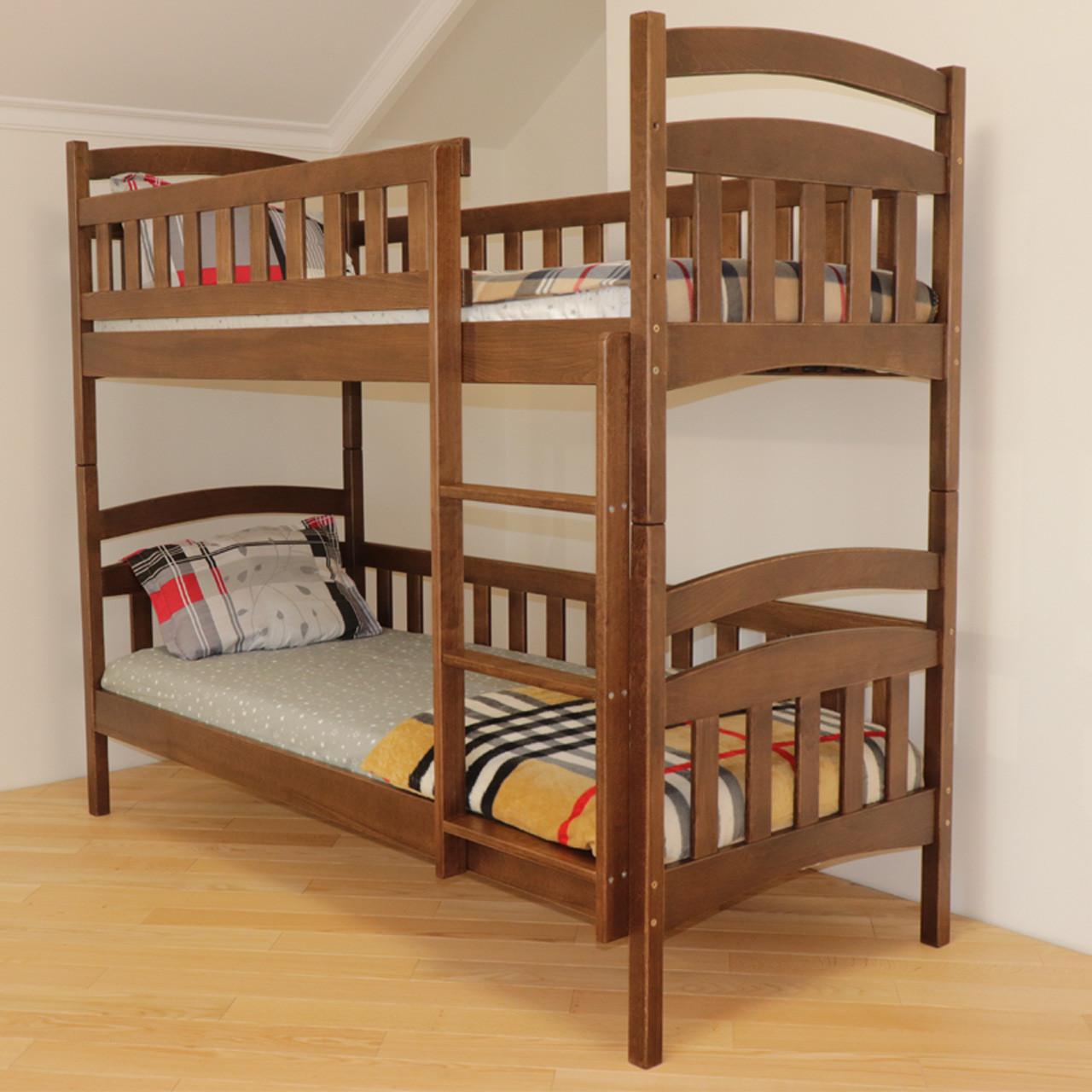 Кровать двухъярусная деревянная Белоснежка массив бука ( трансформер )