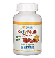 Полівітаміни у жувальних цукерок, без желатину, з ягідним і фруктовим смаком, 60 шт, фото 1