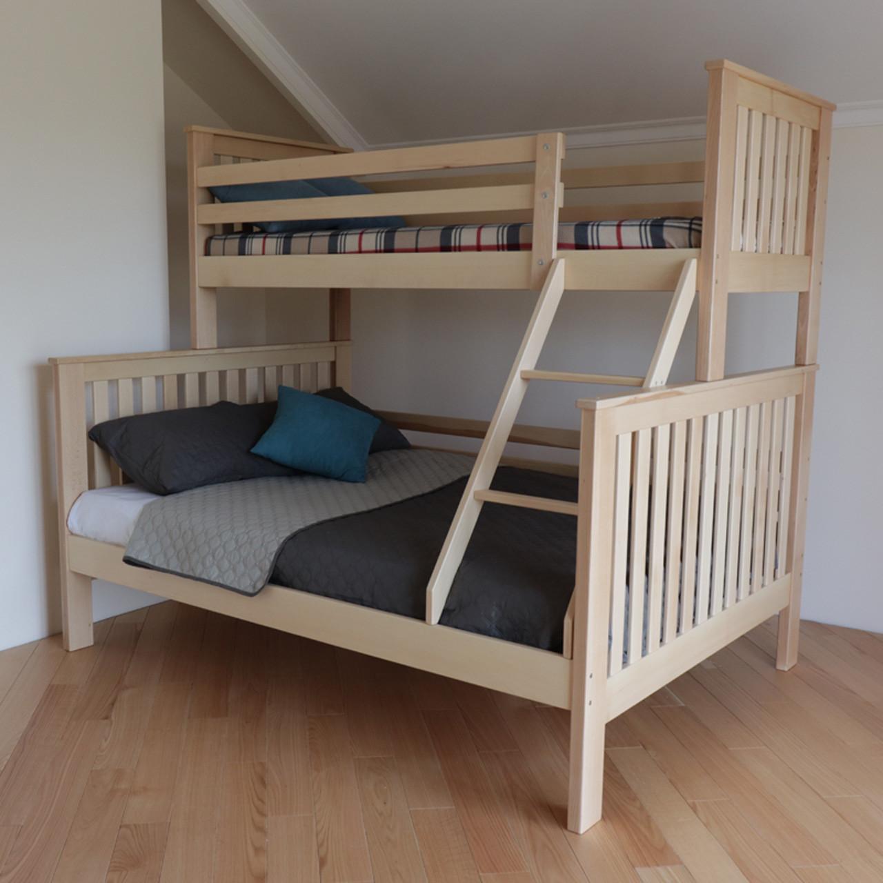 Ліжко двох'ярусне дерев'яне Орхідея масив бука (трансформер)