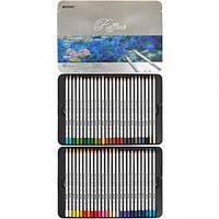 Цветные карандаши Marco Raffine 7100-50TN Марко Рафин 50 цветов металлическом пенале