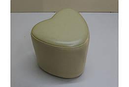 Пуф Sovalle Сердце экокожа матовый Кремовый 0114-09, КОД: 1536909