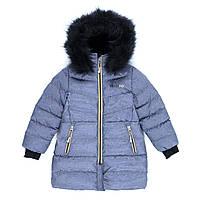 Пальто зимнее для девочки Smoke/Gold