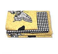 """Євро комплект (Бязь) постільної білизни """"Королева Ночі""""   Постільна білизна від виробника   Метелики на жовтому, фото 2"""