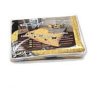 """Євро комплект (Бязь) постільної білизни """"Королева Ночі""""   Постільна білизна від виробника   Метелики на жовтому, фото 5"""