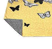 """Євро комплект (Бязь) постільної білизни """"Королева Ночі""""   Постільна білизна від виробника   Метелики на жовтому, фото 4"""