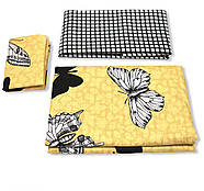 """Євро комплект (Бязь) постільної білизни """"Королева Ночі""""   Постільна білизна від виробника   Метелики на жовтому, фото 3"""