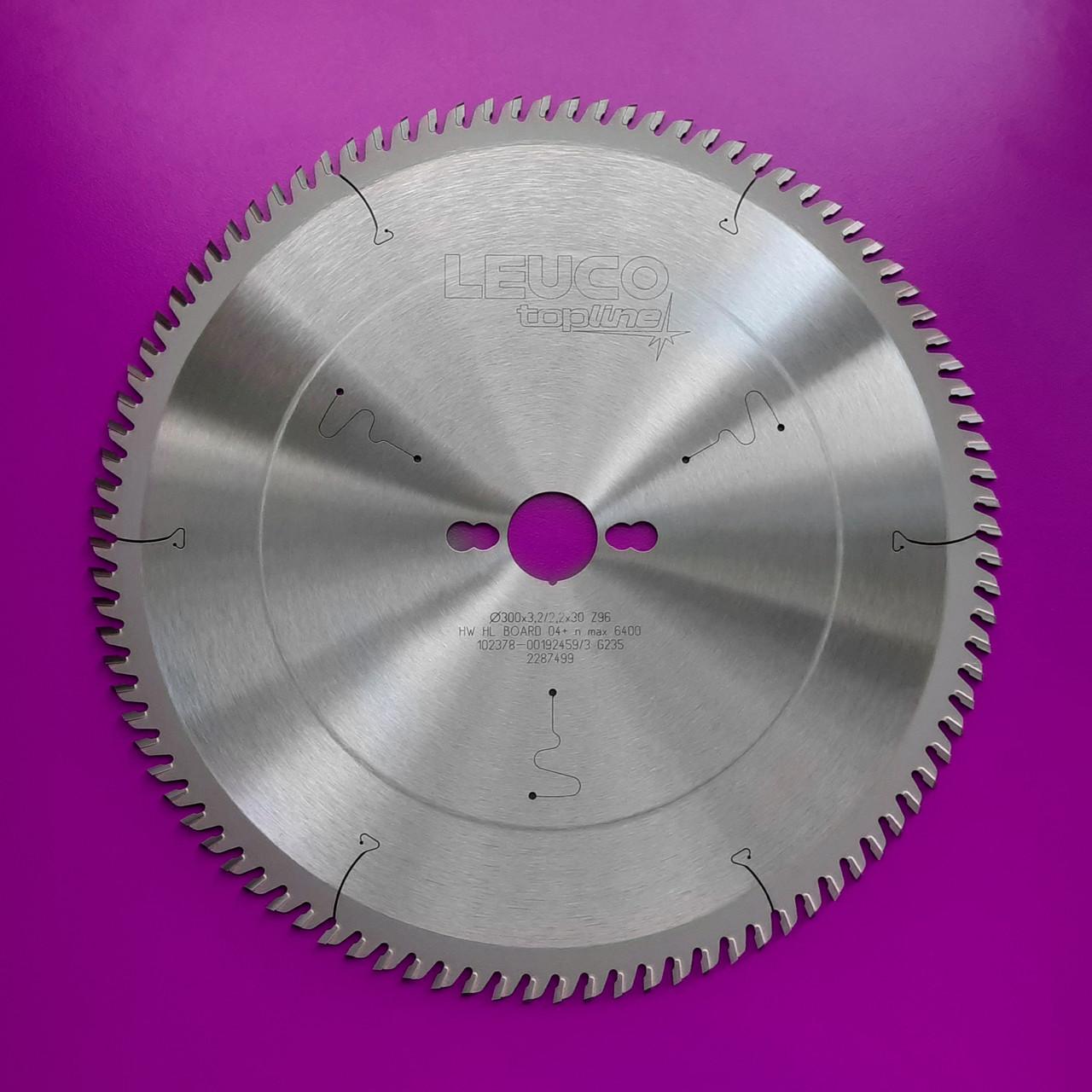 300x3,2/2,2x30 Z=96 Диск пильный по ламинату, ДСП и МДФ Leuco для форматно-раскроечных станков