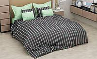 Комплект красивого и качественного постельного белья семейка, кактус полоска