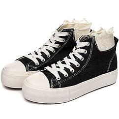 Жіночі кеди Lemax keds 40 Jeans Black 2063-1-40, КОД: 1162861