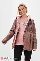 Двусторонняя демисезонная куртка для беременных из плащевки с легким блеском FLOYD OW-30.012