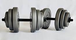 Гантели WCG 2х18 кг Серые 310.001.005, КОД: 1312254