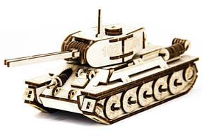 Механический деревянный 3D пазл SUNROZ Танк T-34 127 элементов SUN1750, КОД: 127673