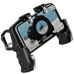 Беспроводной геймпад-триггер с пистолетными ручками джойстик для смартфона Sandy Union PUBG Mobil, КОД: 1309184