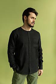 Мужская рубашка из льна Feel and Fly Laurence Black XXL Черный 5719147, КОД: 1782245