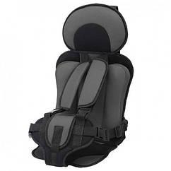 Портативное бескаркасное детское автокресло Child Car Seat до 36 кг Серый, КОД: 1635764