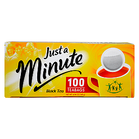 Черный чай в пакетиках Just a Minute Black Tea 100 x 1.4 г 26.063, КОД: 371869