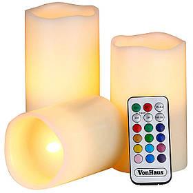 Светодиодные свечи Luma Candles с пультом Белые 8019, КОД: 146525