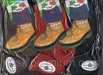 Носки женские шерстяные с отворотом без махры Tuba, ассорти, Турция