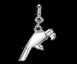 Срібна підвіска кулон у стилі орігамі TARDOO Папуга hubber-164, КОД: 1160151