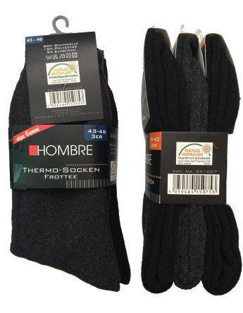 Комплект термоносков Hombre 39-42 Черный с серым hom002, КОД: 286796