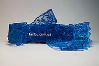 "Кружево синее""яблочко"", ширина 4 см(1упаковка-10ярдов), фото 1"