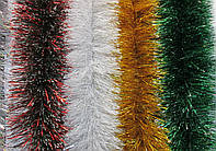 Мишура новогодняя (дождик) 10 см, длина -2 метра .Голограмный (Польша)