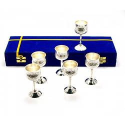 Рюмки бронзовые посеребренные Darshan н-р 6 шт 44133, КОД: 1366960