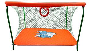 Манеж игровой KinderBox с крупной сеткой Оранжевый km 5514, КОД: 369347
