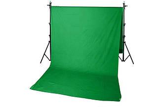 Фон тканевый хромакей 1.5 х 2 м Зеленый R0546, КОД: 1636666
