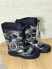 Резиновые сапоги для мальчика Камуфляж 31 Синий 422481, КОД: 1788140