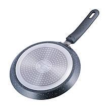 Сковорода блинная Kamille 22см с гранитным покрытием  для индукции и газа KM-4205GR, фото 3